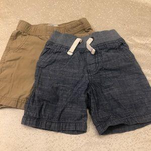 2 pairs toddler boys 2T shorts